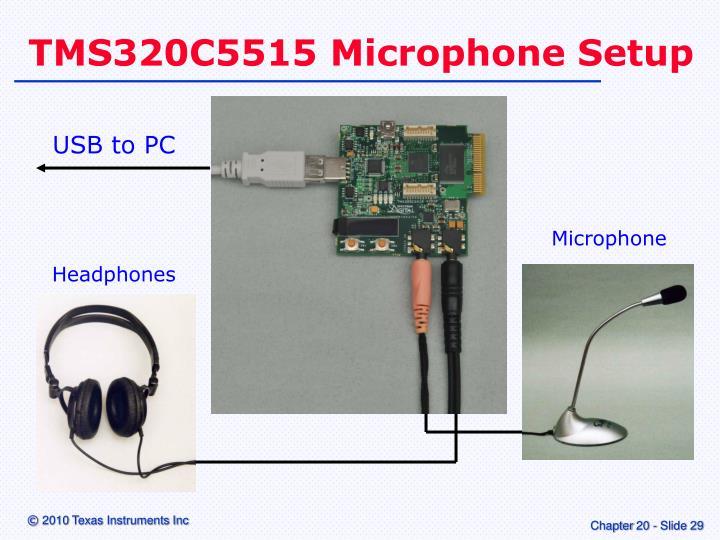 TMS320C5515 Microphone Setup