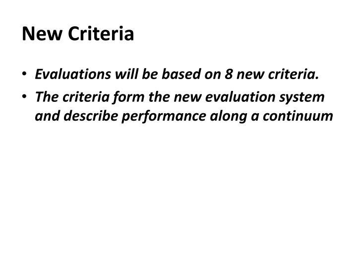 New Criteria