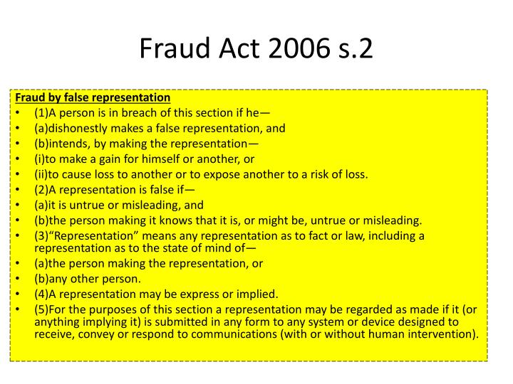 Fraud Act 2006 s.2