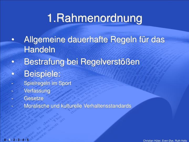 1.Rahmenordnung