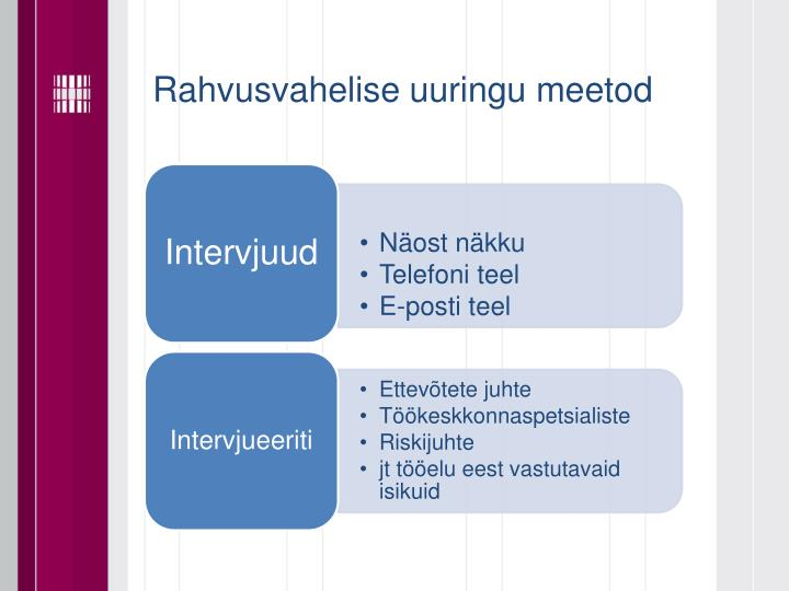 Rahvusvahelise uuringu meetod
