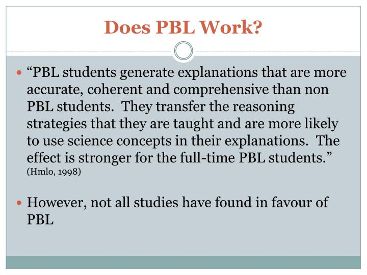 Does PBL Work?