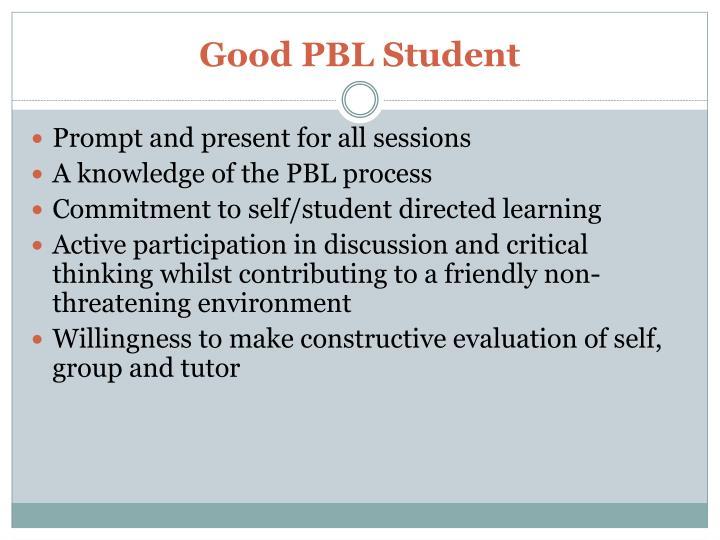 Good PBL Student