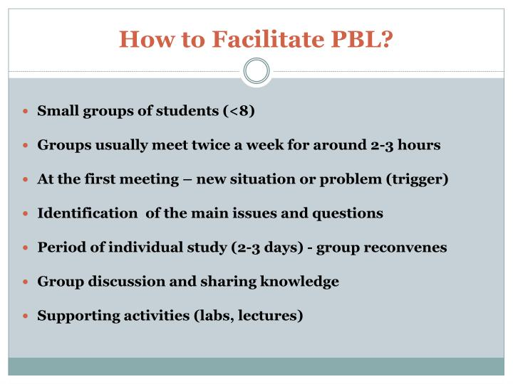 How to Facilitate PBL?
