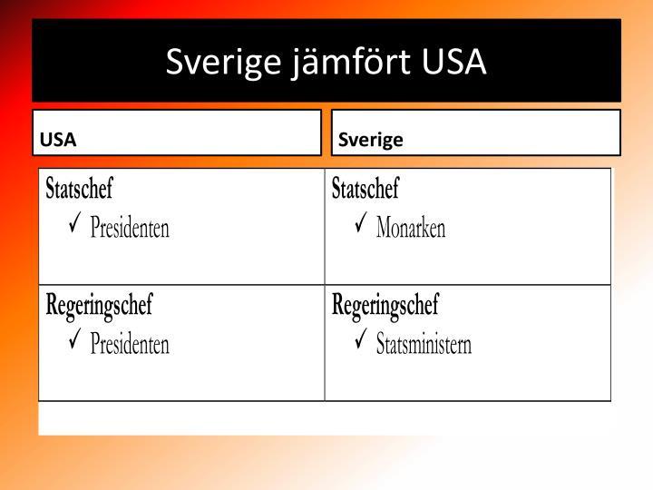 Sverige jämfört USA