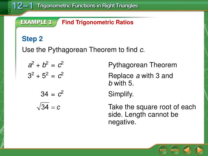 Find Trigonometric Ratios