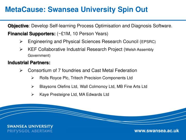 MetaCause: Swansea University Spin Out