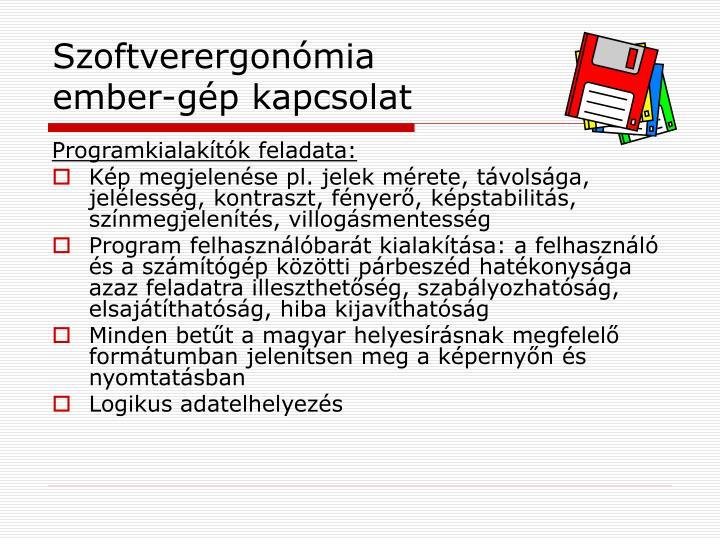 Szoftverergonómia
