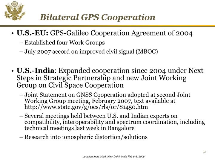 Bilateral GPS Cooperation