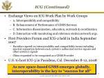 icg continued