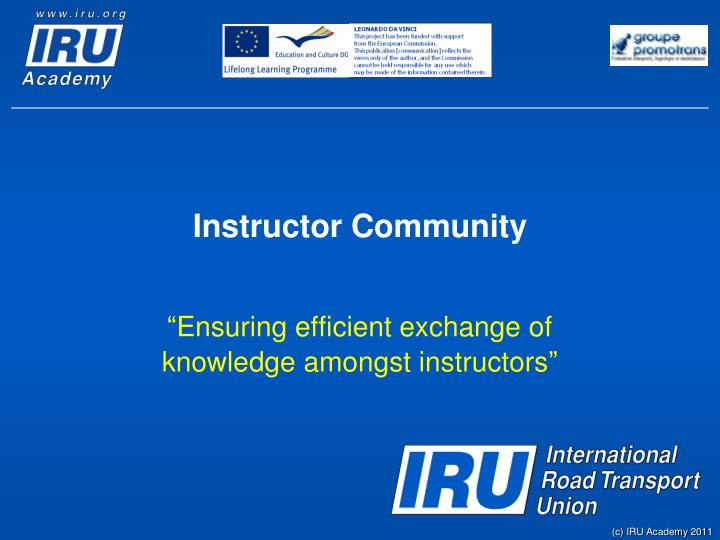 Instructor community