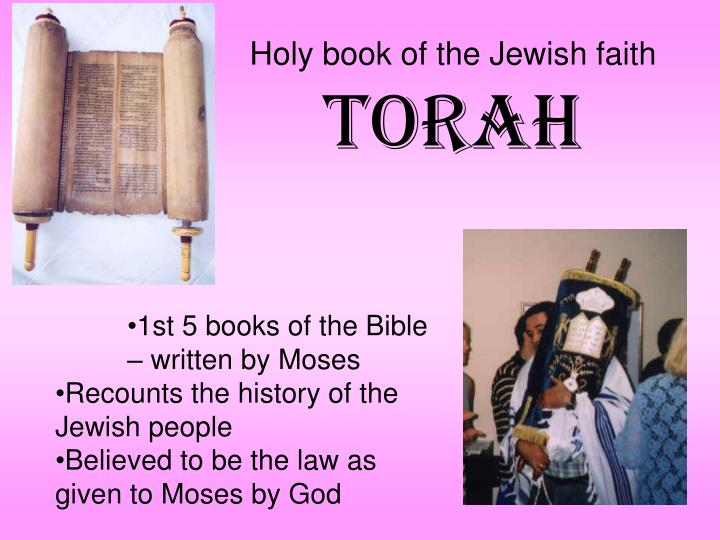 Holy book of the Jewish faith