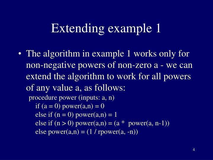 Extending example 1