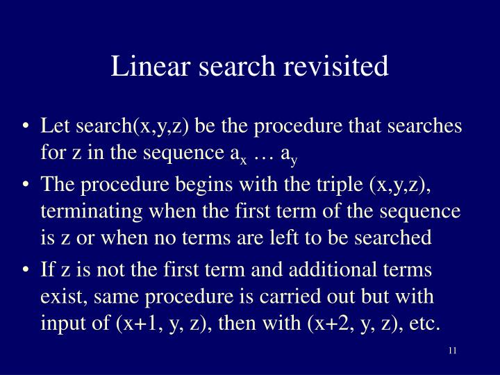 Linear search revisited