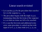 linear search revisited2