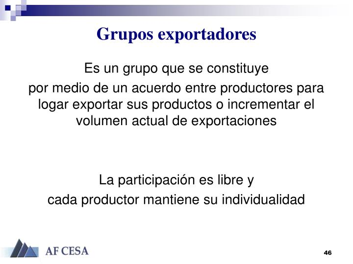 Grupos exportadores
