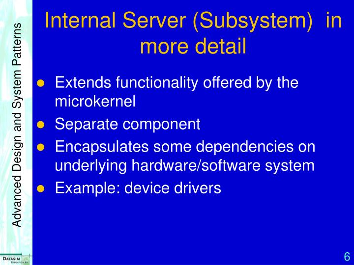 Internal Server (Subsystem)  in more detail