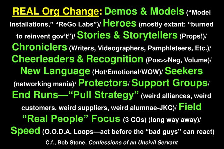 REAL Org Change