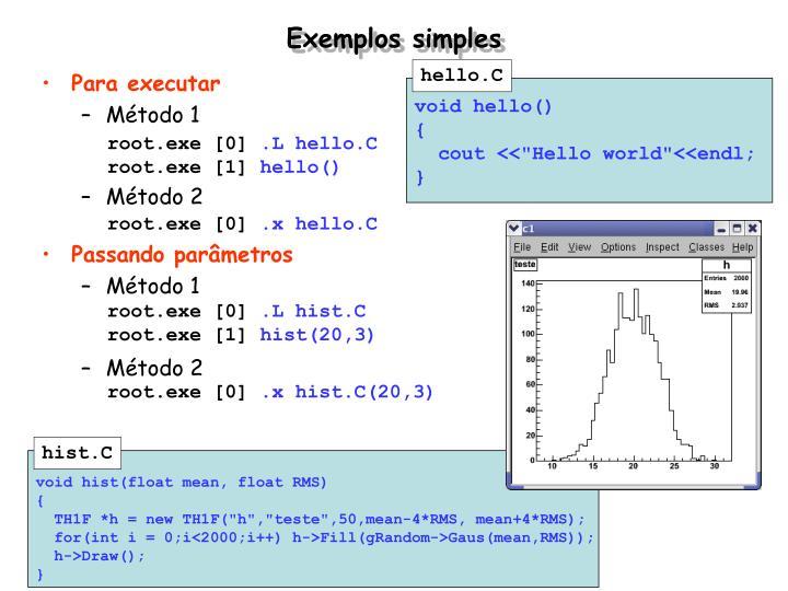Exemplos simples