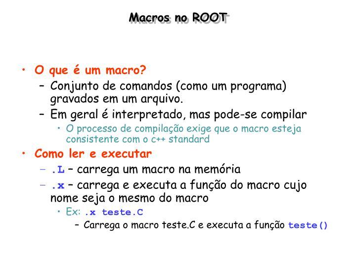 Macros no ROOT