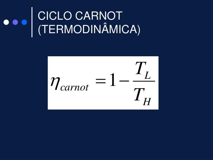 CICLO CARNOT (TERMODINÂMICA)