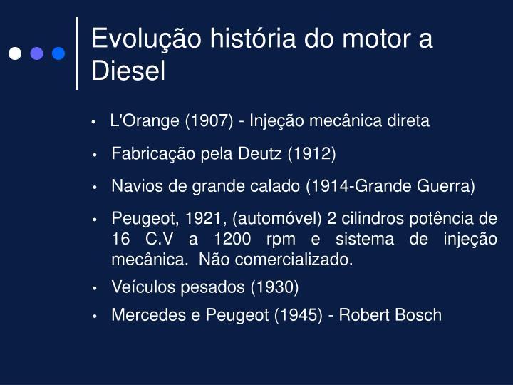 Evolução história do motor a Diesel