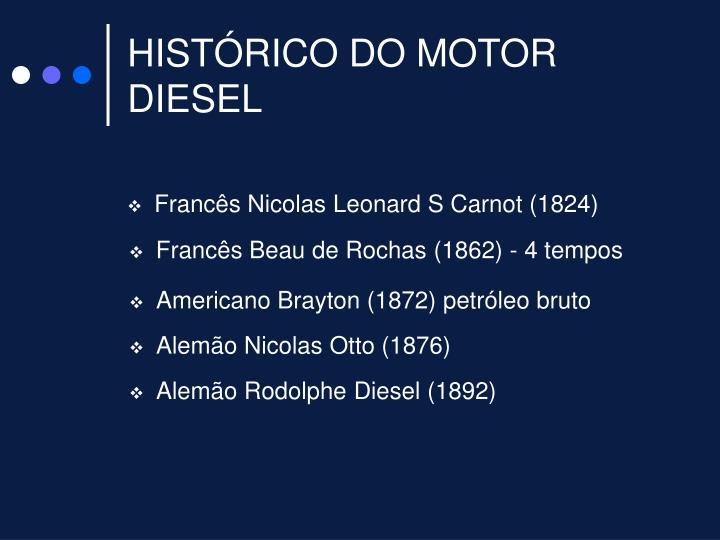 HISTÓRICO DO MOTOR DIESEL