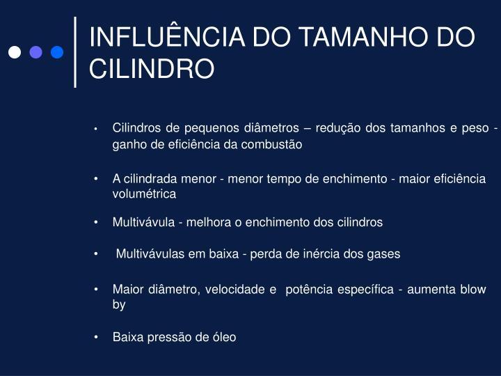 INFLUÊNCIA DO TAMANHO DO CILINDRO