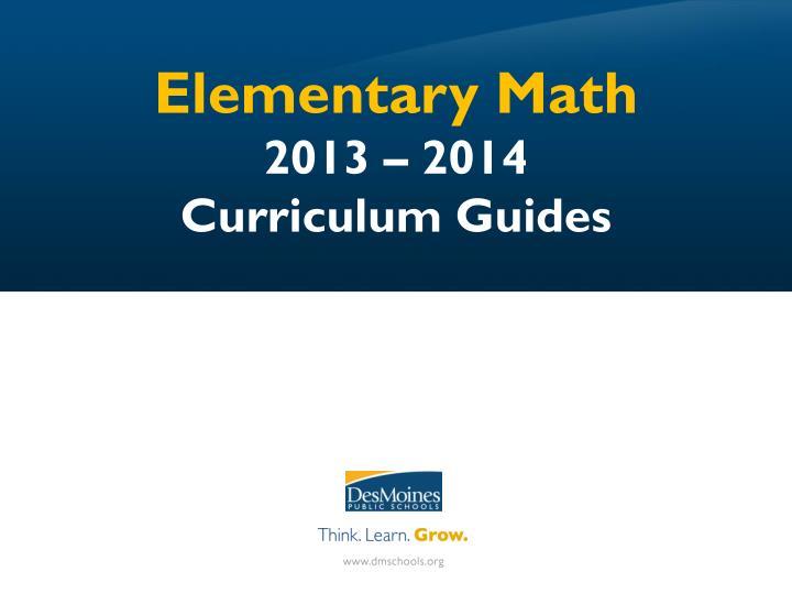 Elementary Math