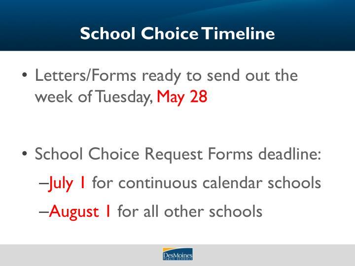 School Choice Timeline