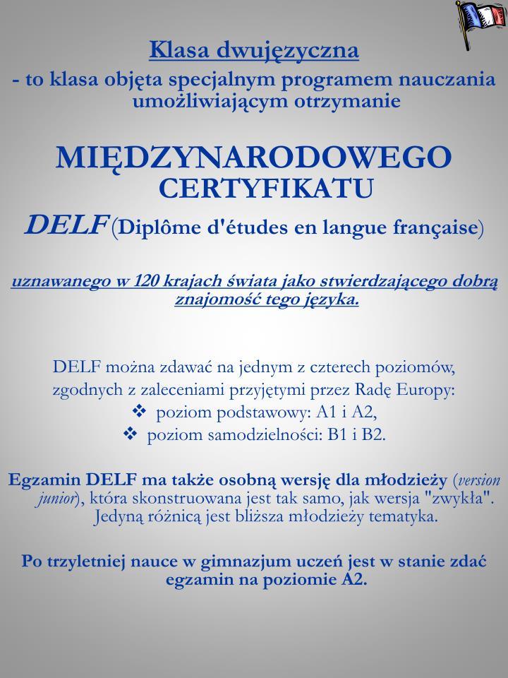Klasa dwujęzyczna