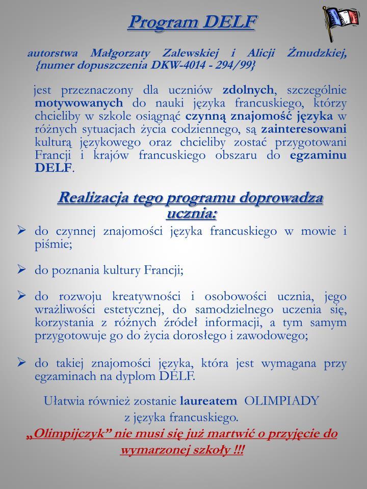 Program DELF