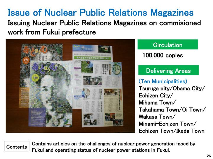 Issue of Nuclear Public Relations Magazines