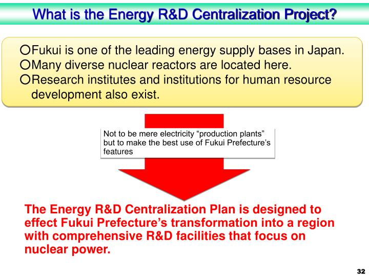 What is the Energy R&D Centralization Project?