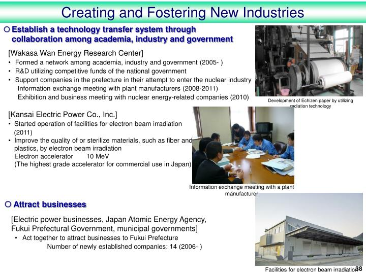 Creating and Fostering New Industries