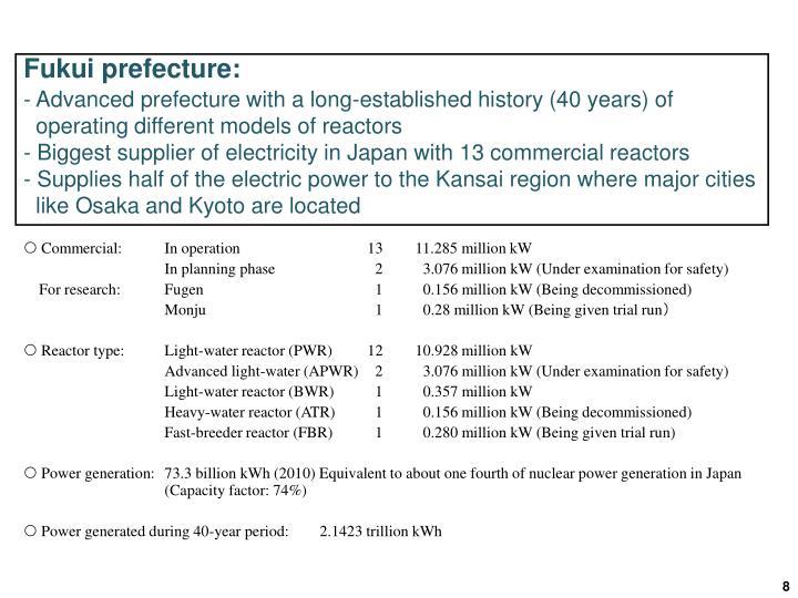 Fukui prefecture: