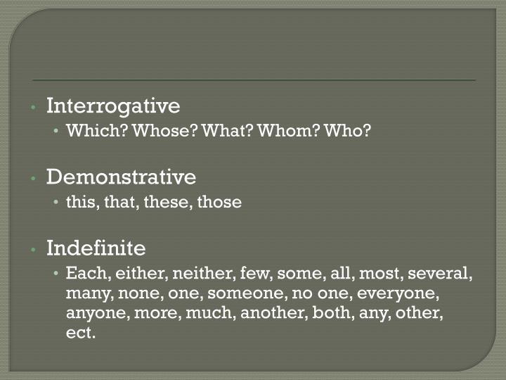 Interrogative