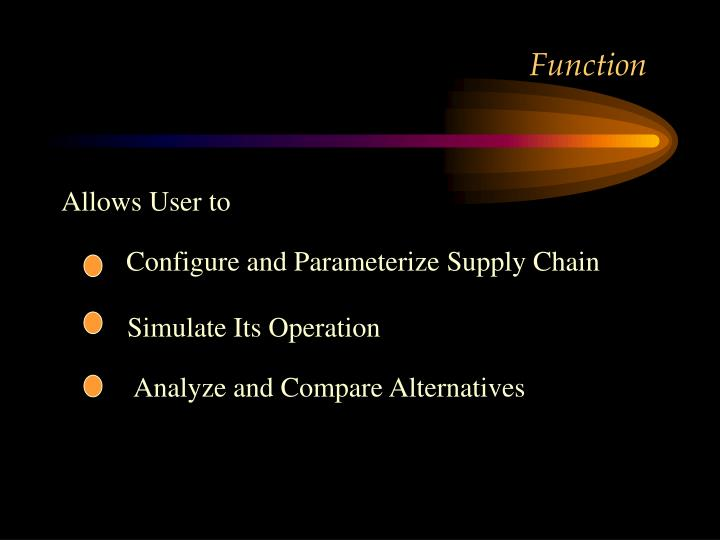 Configure and Parameterize Supply Chain