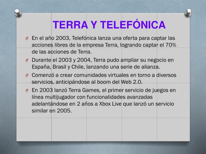 Terra y telefónica