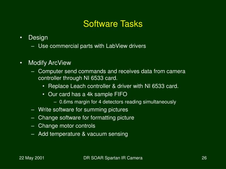 Software Tasks