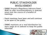 public stakeholder involvement