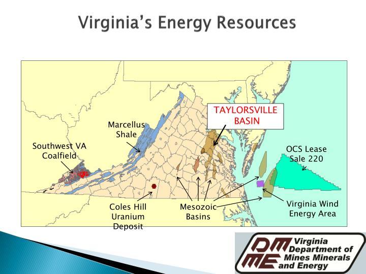 Virginia's Energy Resources