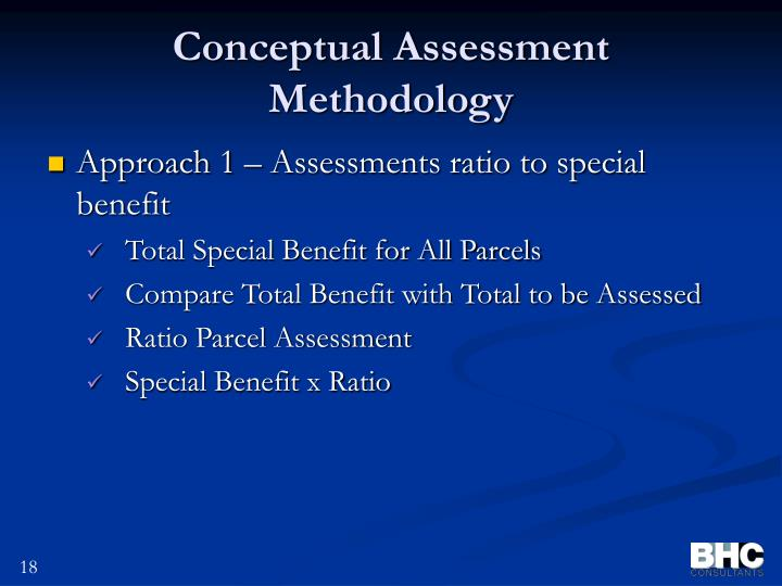 Conceptual Assessment Methodology