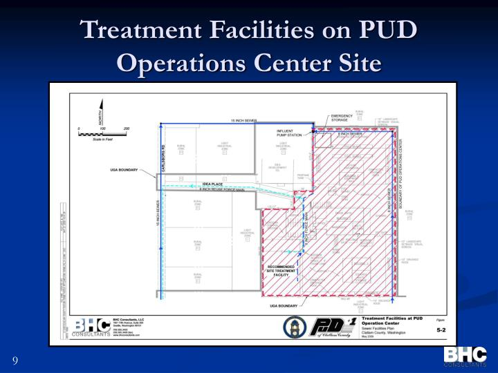 Treatment Facilities on PUD Operations Center Site