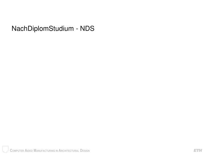 NachDiplomStudium - NDS
