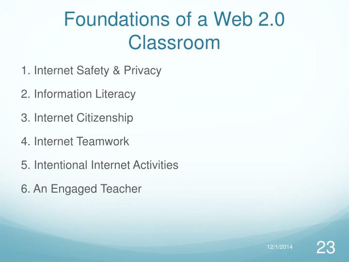 Foundations of a Web 2.0 Classroom