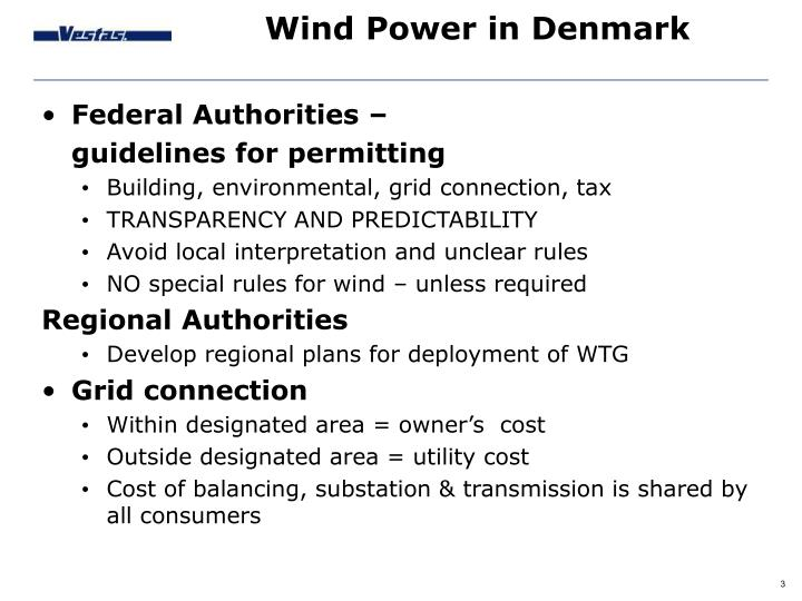 Wind Power in Denmark