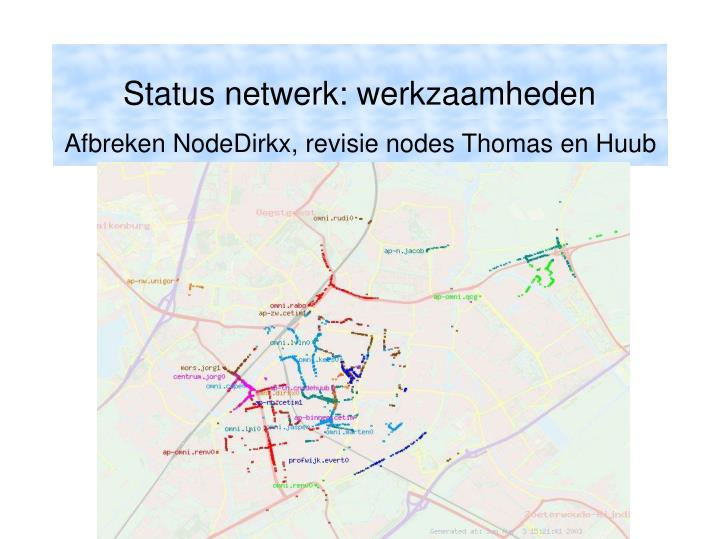 Afbreken NodeDirkx, revisie nodes Thomas en Huub