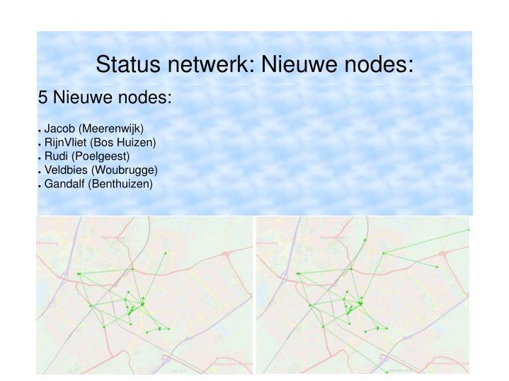 5 Nieuwe nodes: