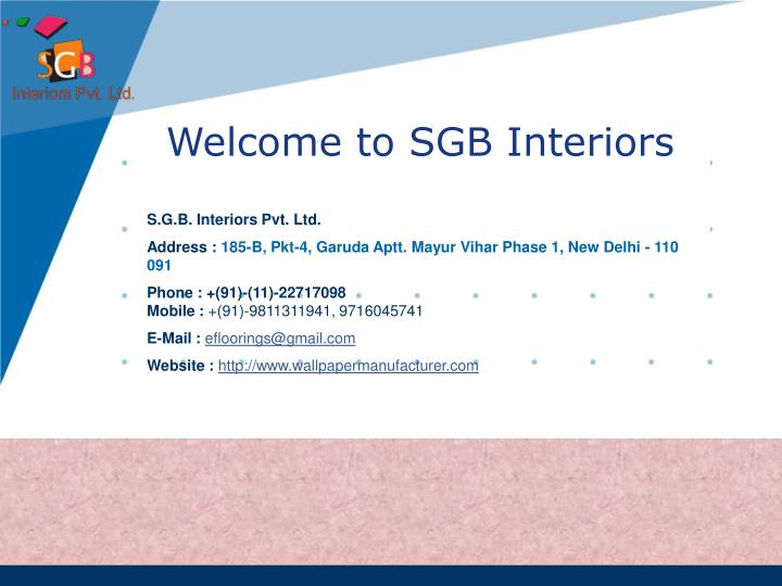 Welcome to sgb interiors